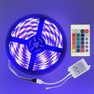 5M Waterproof 300x5050 RGB LED Strips Light Flexible and IR 24Key Remote Control