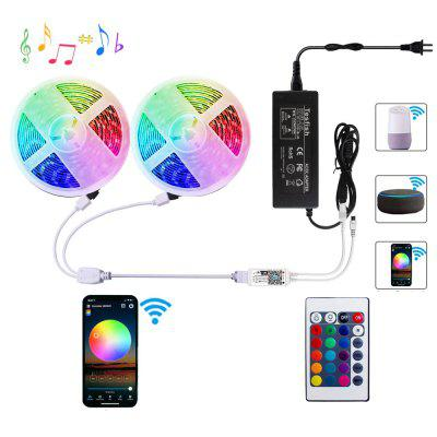 ZDM WiFi Intelligent Remote Dimming 2X5M 5050 SMD RGB LED Strip Verlichting Kit