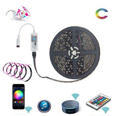 WiFi Intelligent Remote Stmívání Vodotěsný 5M 300x5050 RGB SMD LED Strip Light