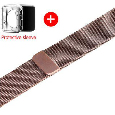 For Apple Watch Milanese band 5/4/3/2/142/44MM 38/40MM Strap add Protect shell