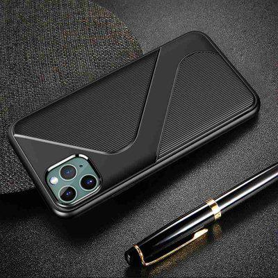 S Shape Pattern Carbon Fiber Phone Case for iPhone  11 Pro Max