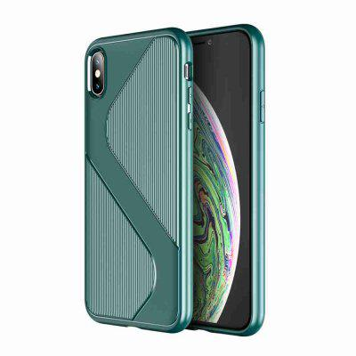 S Shape Pattern Carbon Fiber Phone Case for iPhone Xs Max