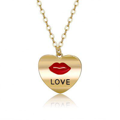 Argent amour Collier Lips