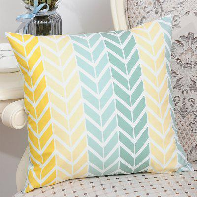 Printed Polyester Washed Pillowcase  45X45