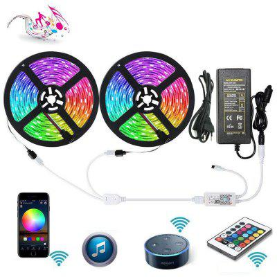 WiFi Intelligent Remote Dimming 2X5M 5050 Waterdichte SMD RGB LED Strip Verlichting