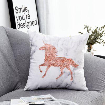 PC387Printed Polyester Washed Pillowcase 45X45