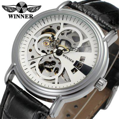 Winner W065 Men'S Stylish Casual Skeleton Automatic Watch