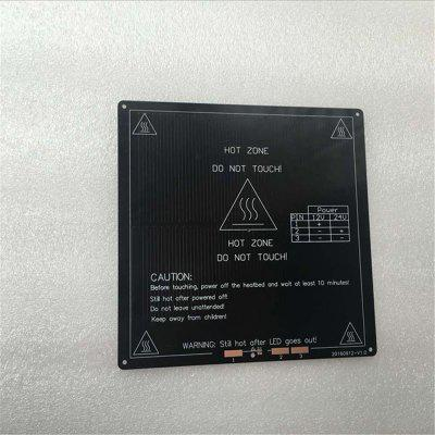 3D-printer Hot Bed Aluminium Base Plate Mk3-220 Hot bed kan worden verwarmd tot 110