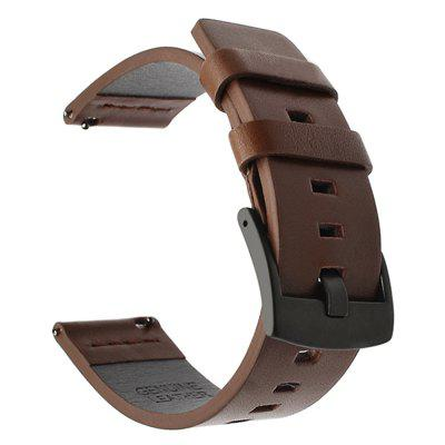 22MM 20MM Leather Watch Band for Samsung Watch Strap for Amazfit for Huawei Band