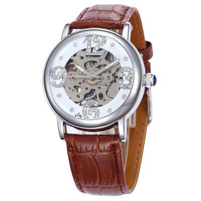 Shenhua 9352 Lady Fashion Casual Hollow Automatic Mechanical Watch