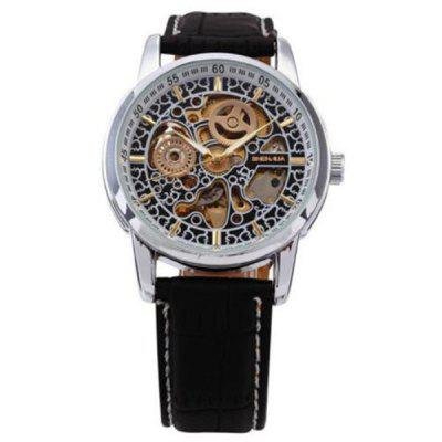 Shenhua 1274 Vintage Belt Hollow Automatic Mechanical Men'S Watches