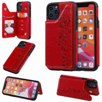 Six Cats Fall Resistant PU TPU Phone Case for Iphone 11 Pro