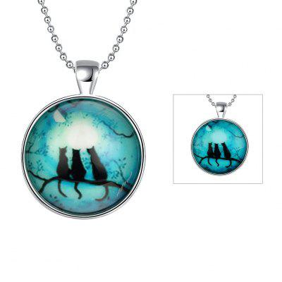 Three Cats Glow-In-The-Dark Necklace