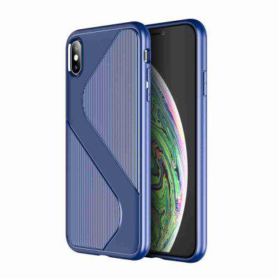 S Shape Pattern Carbon Fiber Phone Case for iphone X / Xs