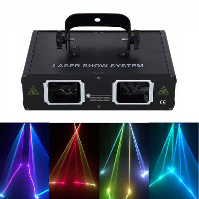 2 Objektiv RGB Beam Laser Light DMX DJ Party Club Bar Show Stage Lighting AC110-240V