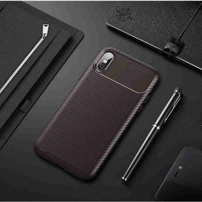 Beetle Carbon Fiber Phone Case voor iPhone X / Xs