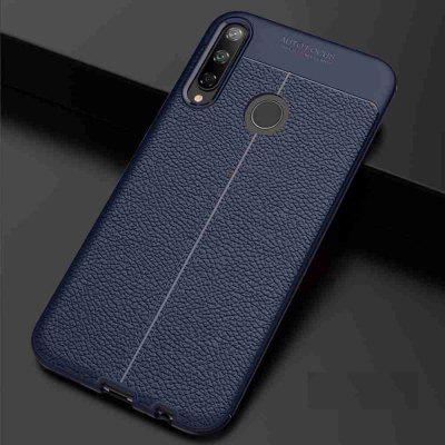 Leather texture Carbon Fiber Phone Case voor Huawei Honor Y7P / P40 Lite E