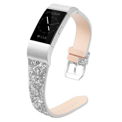 Lesk Bling Christmas Watchband pro Fitbit Charge 2 Watch páskem