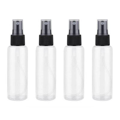 4 stuks 60 ml doorzichtige plastic Parfum Empty Mini Spray Bottle 13cm