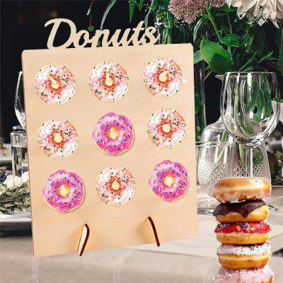 170702 Houten Donut Rack Birthday Party Accessoires Decoratie (1 Pack)