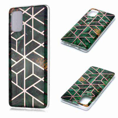 Electroplated Marble Process Phone Case for Samsung Galaxy A71