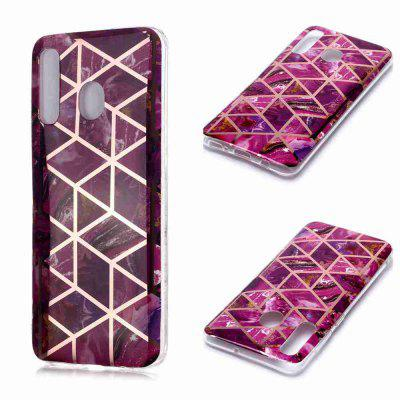 Electroplated Marble Process Phone Case for Samsung Galaxy A20 / A30