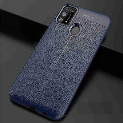 Leather texture Carbon Fiber Phone Case voor Samsung Galaxy M31