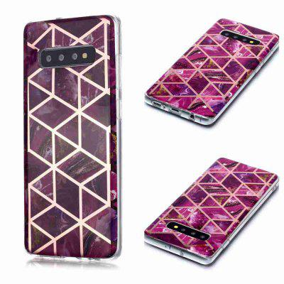 Gegalvaniseerd Marble Process Phone Case voor Samsung Galaxy S10 Plus