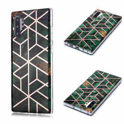 Gegalvaniseerd Marble Process Phone Case voor Samsung Galaxy Note 10 Plus