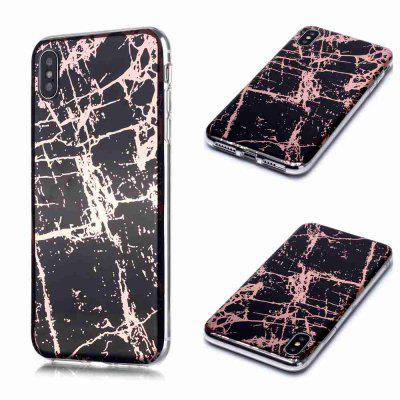Electroplated Marble Process Phone Case for iPhone Xs Max