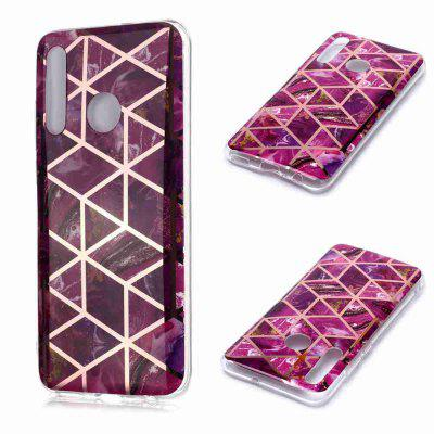 Electroplated Marble Process Phone Case for Huawei Honor 10 Lite