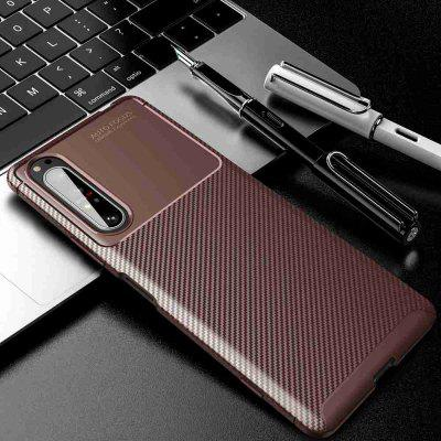 Beetle Carbon Fiber Solid Color Phone Case do Sony Xperia 1ii