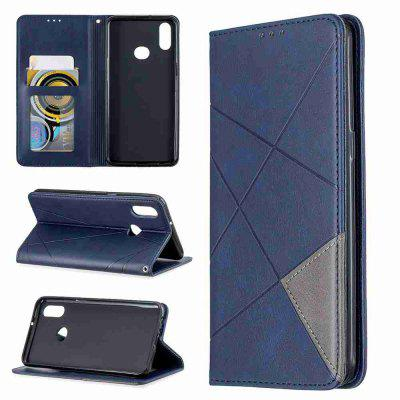 Diamond Donkere Magneet PU TPU Phone Case voor Samsung Galaxy A10S