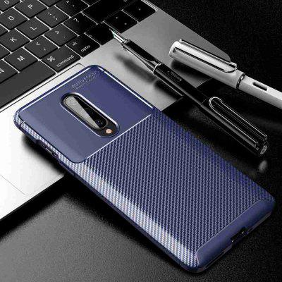 Beetle Carbon Fiber Solid Color Phone Case for One Plus 8
