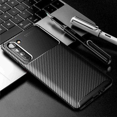 Beetle Carbon Fiber Solid Color Phone Case do Motorola Krawędzi