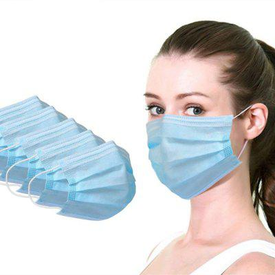 3 Layer Non-woven Dust Mask Thickened Disposable Mouth Mask anti-virus product, Blue