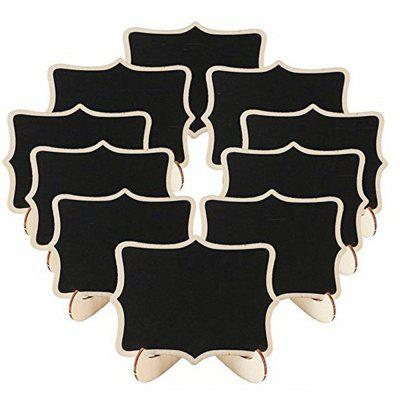 170627 lacy display blackboard wood crafts home party decorations (100 sets)