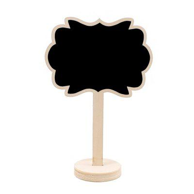 170723 Wood Small Blackboard Writing Ornaments (10 Pack) Log Color