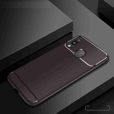 Armor Carbon Fiber Solid Color Phone Case for  Samsung Galaxy  M30 / A40S