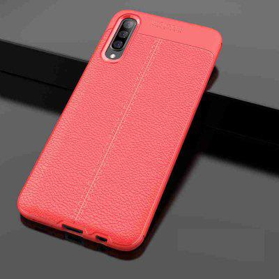 Leather texture Carbon Fiber Phone Case voor Samsung Galaxy A70 / A70S