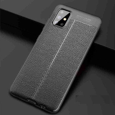 Leather texture Carbon Fiber Phone Case voor Samsung Galaxy A51 / M40S