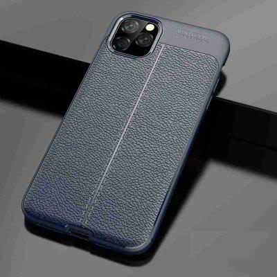 Leather texture Carbon Fiber Phone Case voor iPhone 11 Pro Max