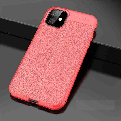 Leather texture Carbon Fiber Phone Case voor iPhone11