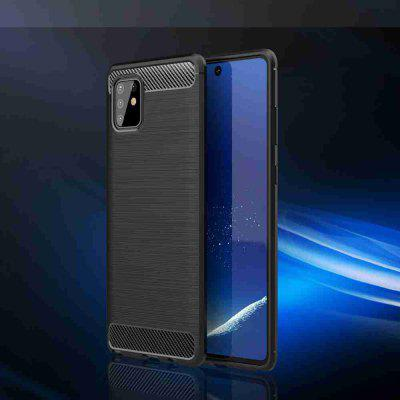 Solid Color Brushed Carbon Fiber Phone Case for Samsung Galaxy A81 / M60S