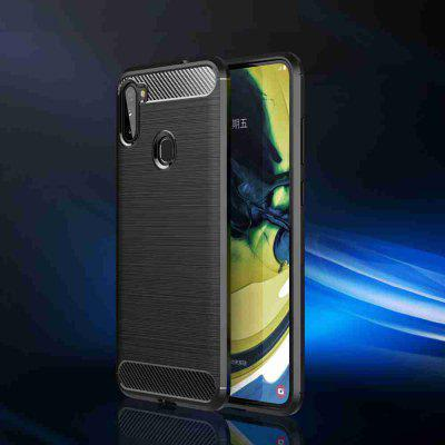 Solid Color Brushed Carbon Fiber Phone Case for Samsung Galaxy A11