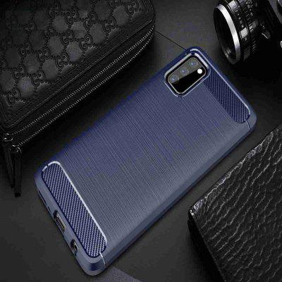 Solid Color Brushed Carbon Fiber Phone Case for Samsung Galaxy  A41