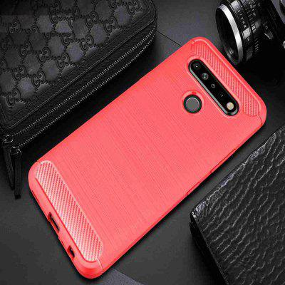 Solid Color Brushed Carbon Fiber Phone Case for LG K61