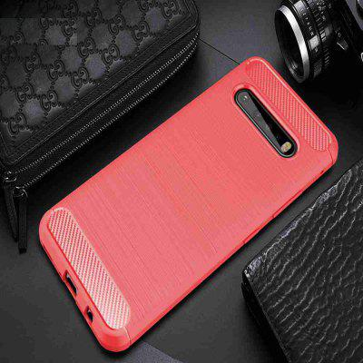 Solid Color Brushed Carbon Fiber Phone Case for LG V60