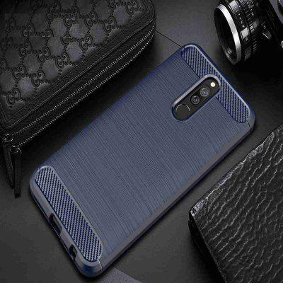 Solid Color Brushed Carbon Fiber Phone Case for Xiaomi Redmi 8 / 8A