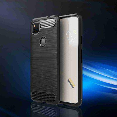 Solid Color Brushed Carbon Fiber Phone Case for Google Pixel 4A